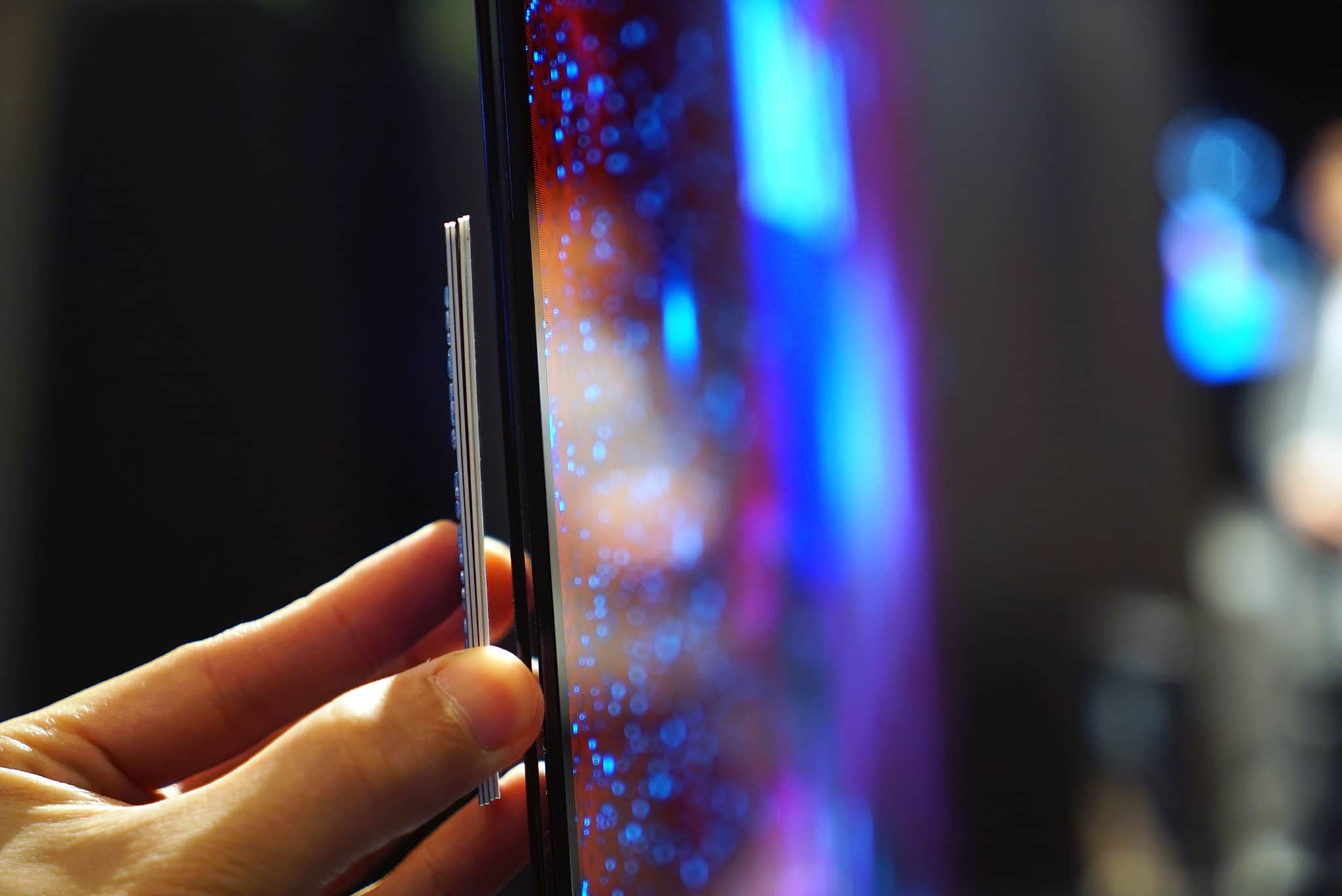 The LG 4K Signature TV is as thin as 4 credit cards.