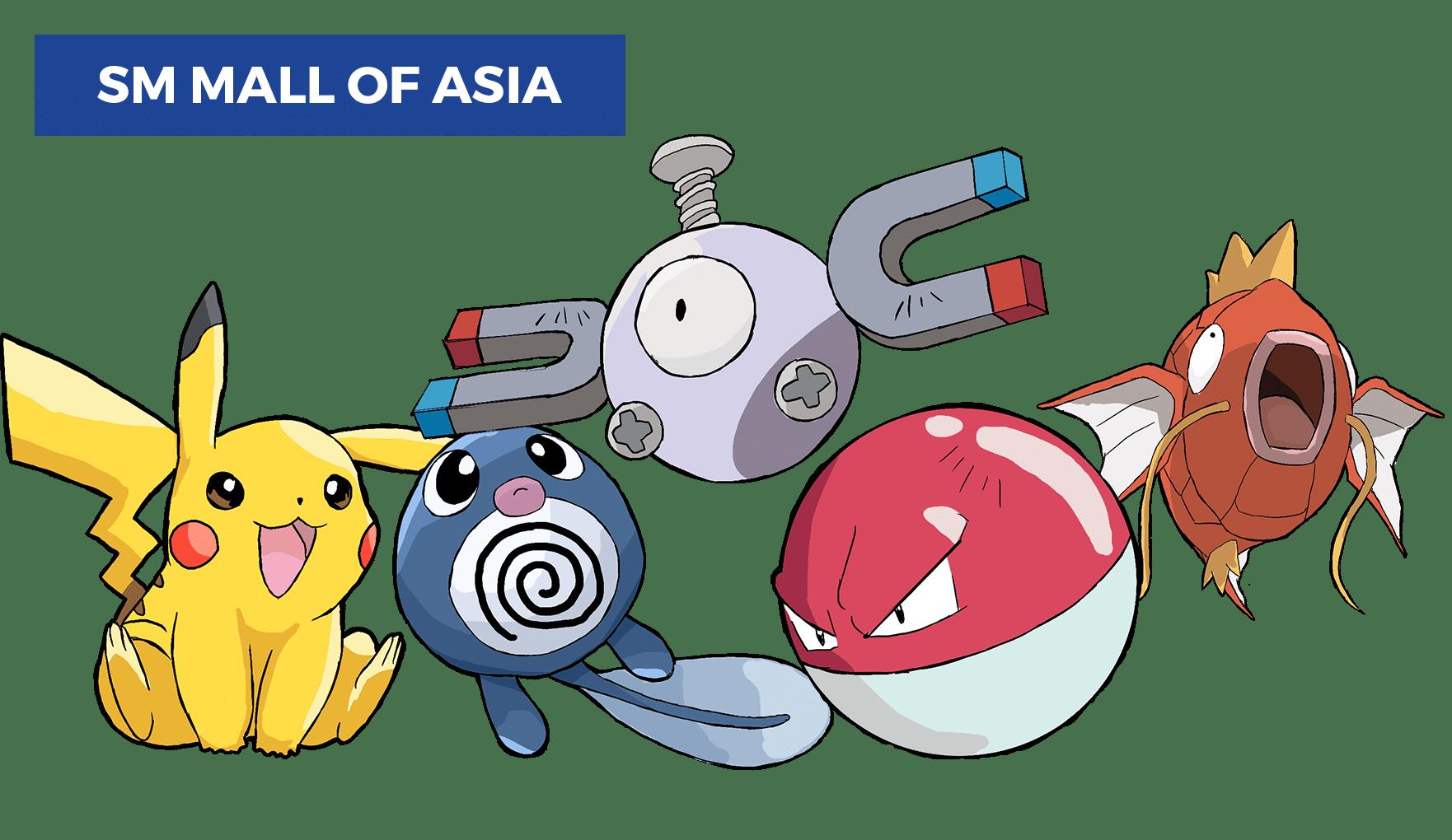 best pokemon go locations in manila - sm mall of asia