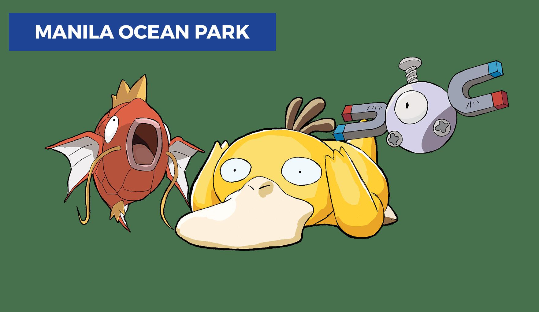 best pokemon go locations in manila - ocean park