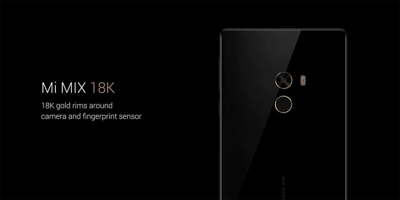 Xiaomi Mi Mix gold accents