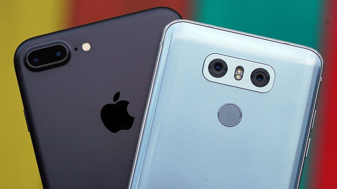 lg g6 vs iphone 6 camera