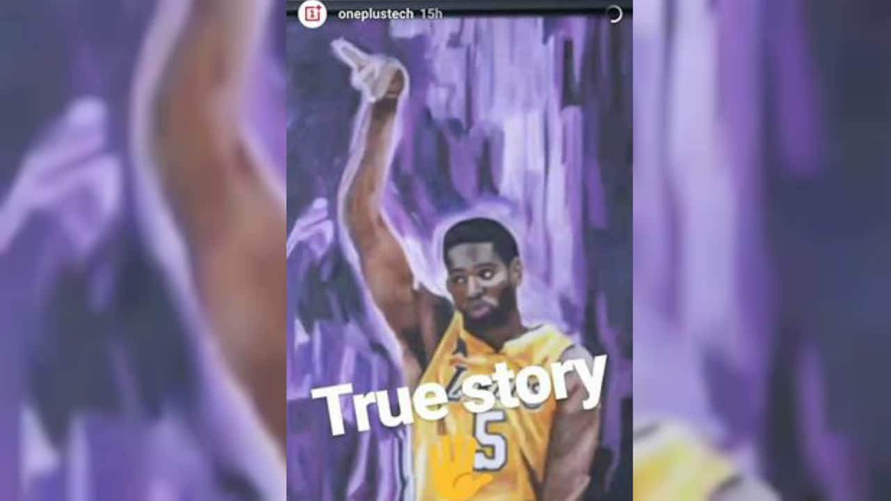 OnePlus Robert Horry Instagram Story