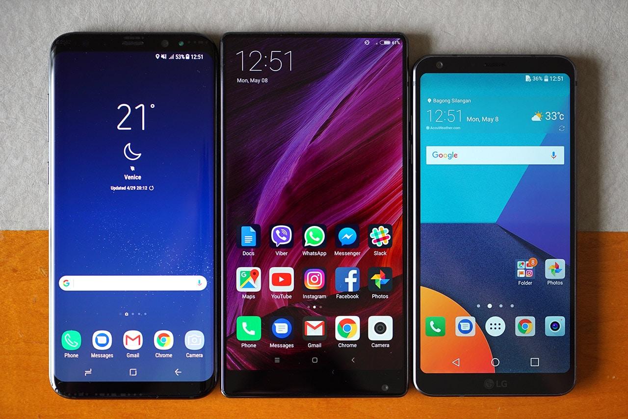 Xiaomi Mi Mix vs Samsung Galaxy S8+ vs LG G6