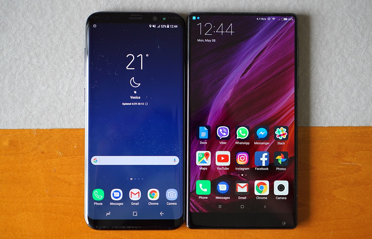 Xiaomi Mi Mix vs Samsung Galaxy S8+