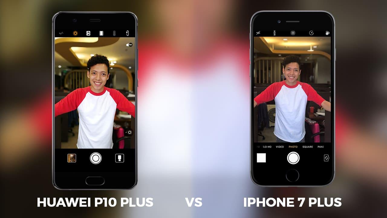 Huawei p10 vs iphone camara