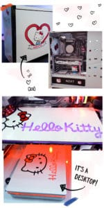 This is an actual Hello Kitty desktop!