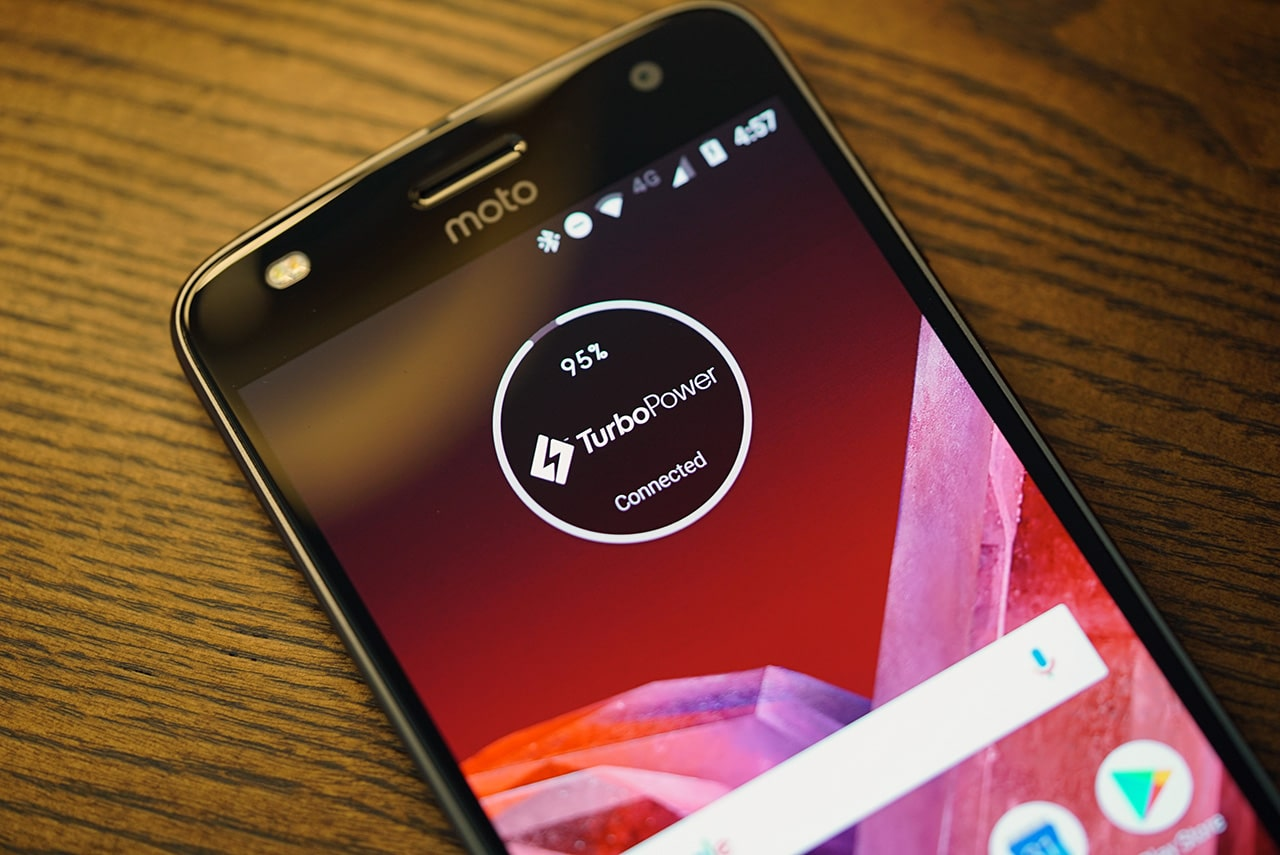 Turbo power charging on the Moto Z2 Play