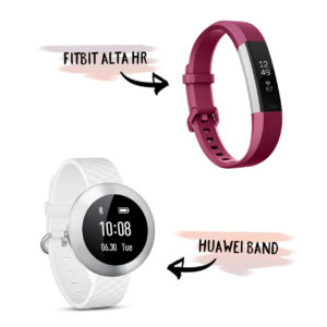 Wearables like the Huawei Band and the Fitbit Alta HR usually have a native app