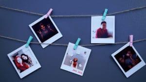 Instax photos displayed