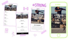 Nike Training Club App creating a workout plan