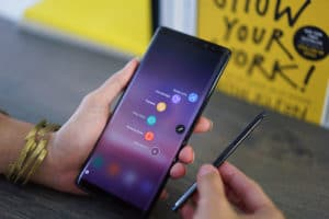 Samsung Galaxy Note 8 and S Pen