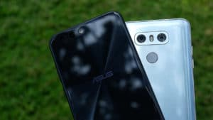 LG G6 and ASUS ZenFone 4 together