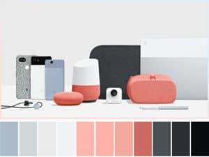 #madebygoogle color palette