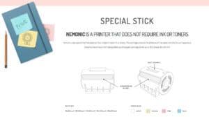 Nemonic sticky note printer info