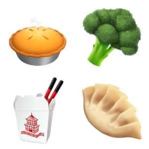 food Emojis come to Apple iOS 11.1
