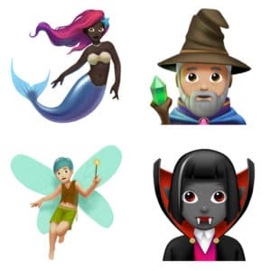 mythical creature Emojis come to Apple iOS 11.1