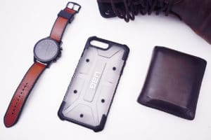 iPhone 8 case flatlay rugged