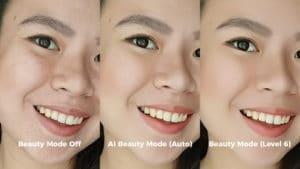OPPO F5 artificial intelligence beauty mode