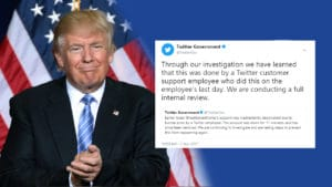 Donald Trump account gets deleted on twitter