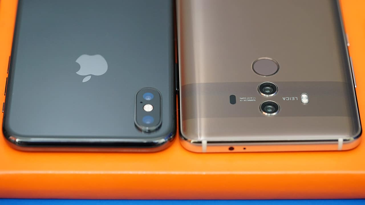 mate 10 huawei vs iphone x