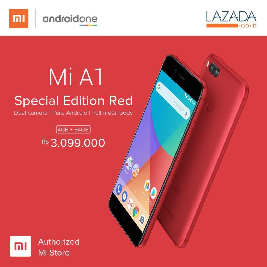 Xiaomi Mi A1 gets a special edition in bright red color