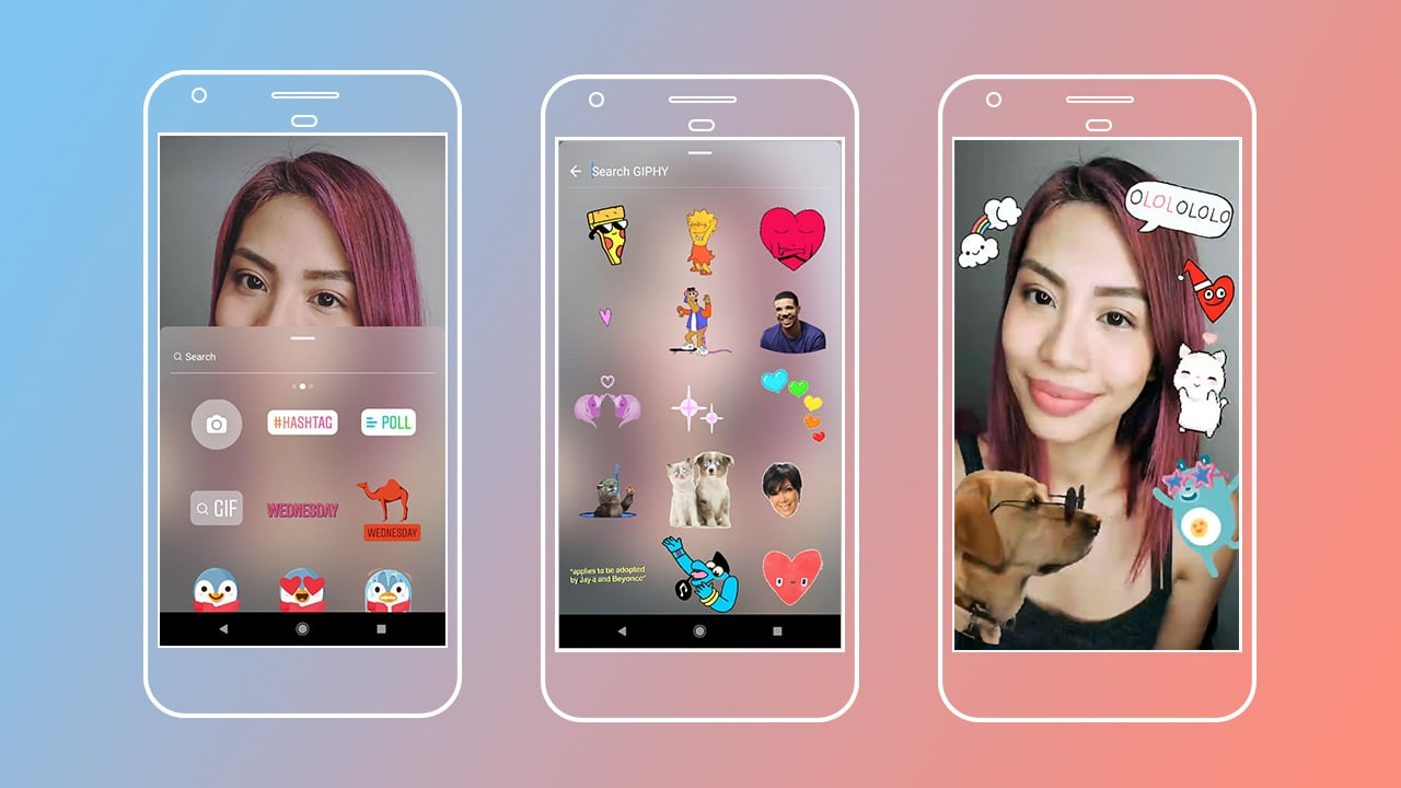 Features. GIF stickers are a thing on Instagram Stories now