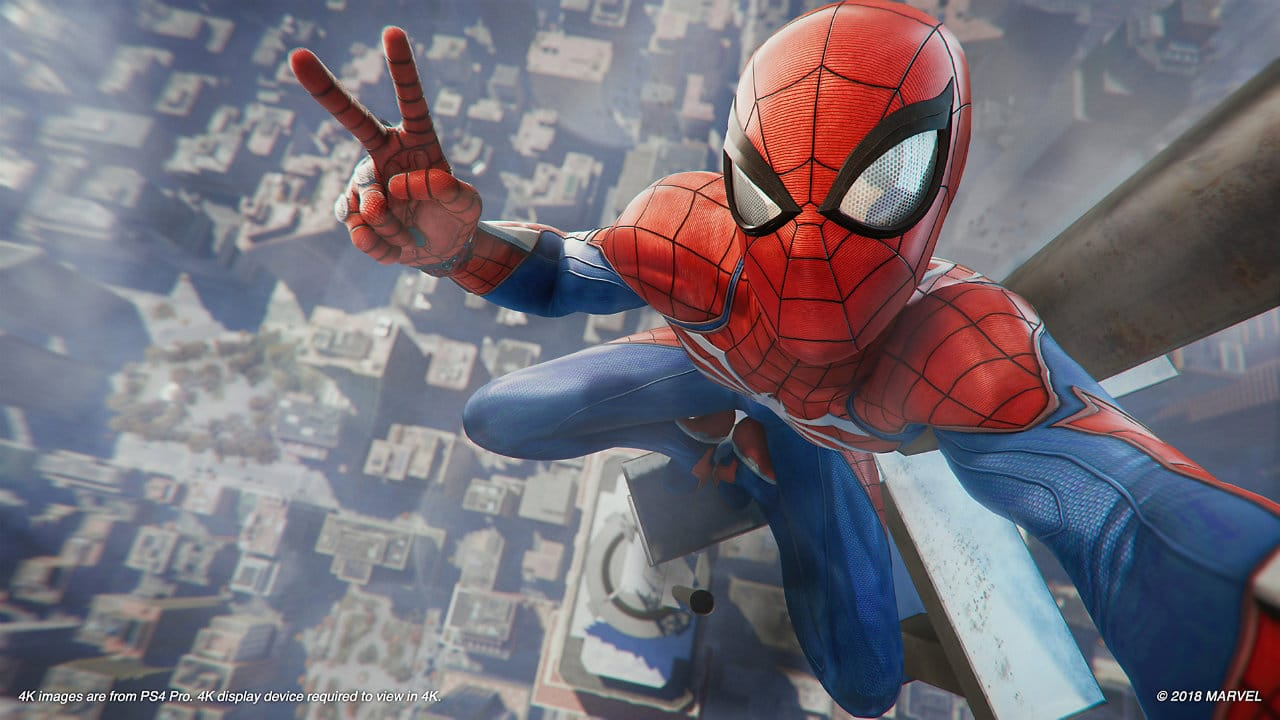 Spidey's not shy about taking selfies