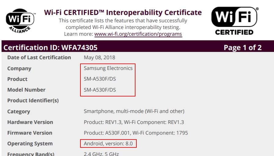 Android Oreo update for Samsung Galaxy A8/A8+ (2018) gets