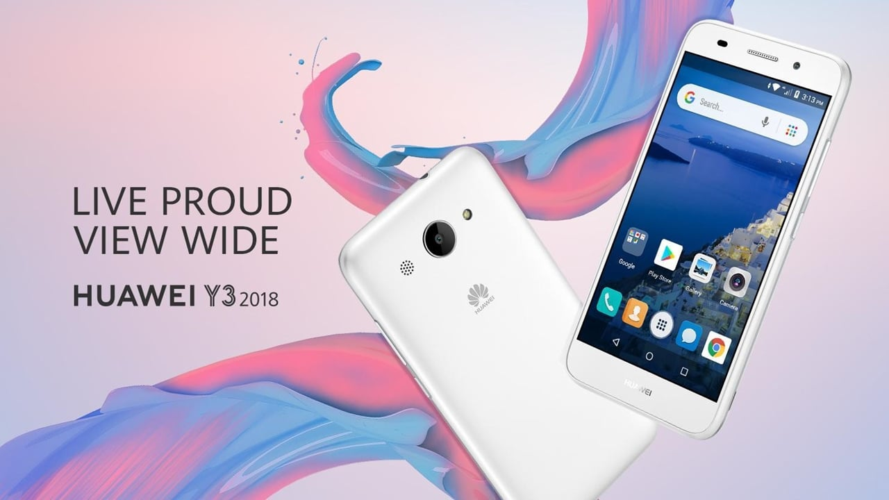 Huawei Y3 2018 is the company's first Android Go smartphone