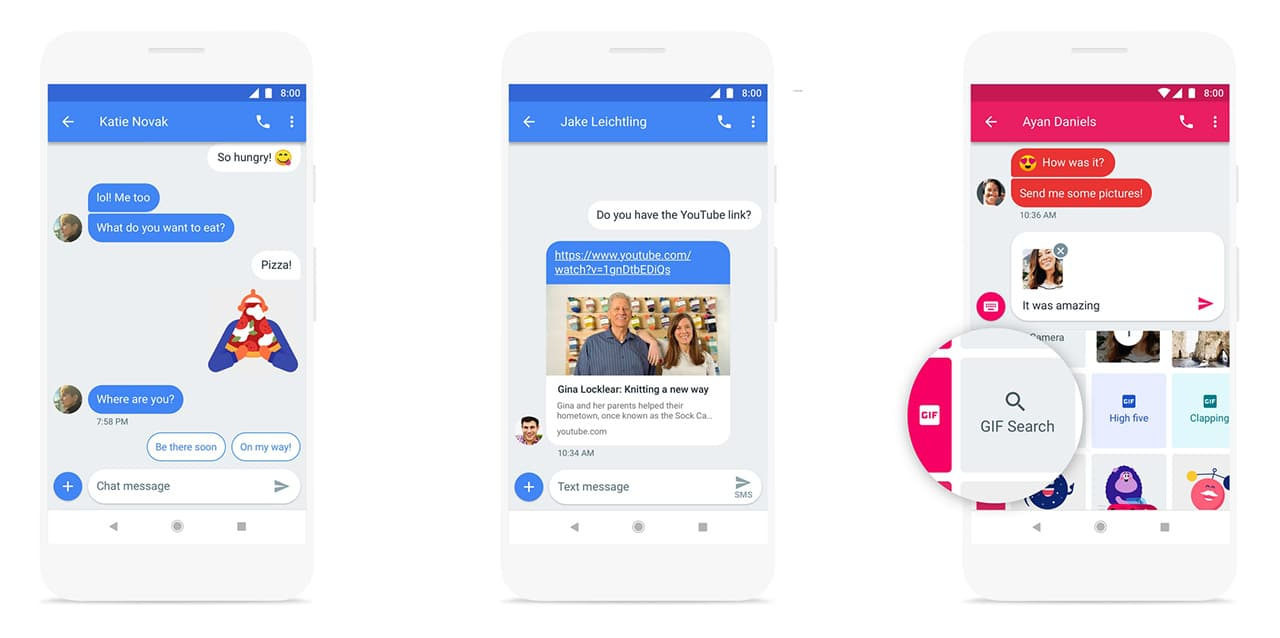 android messages web app