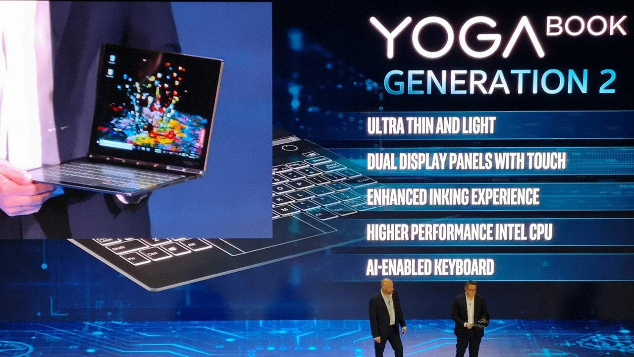 Lenovo's next Yoga Book will come with dual screens
