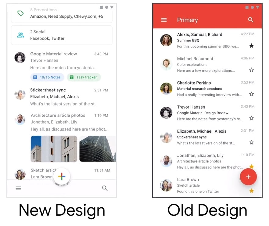 Android apps will be whiter and rounder with 2018 Material Design