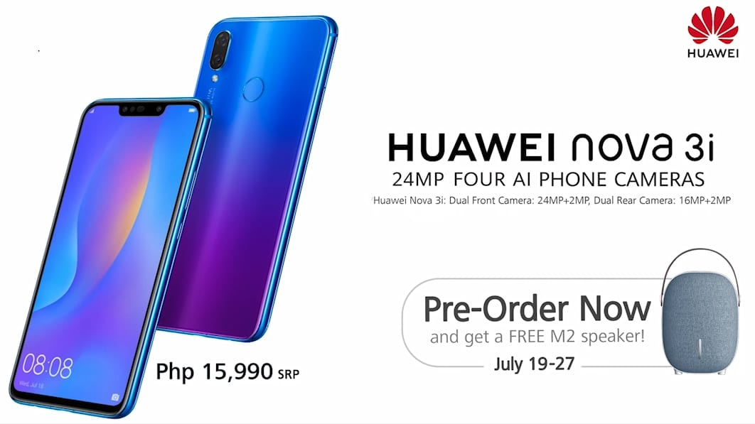 Huawei Nova 3i pre-order details and price in the Philippines