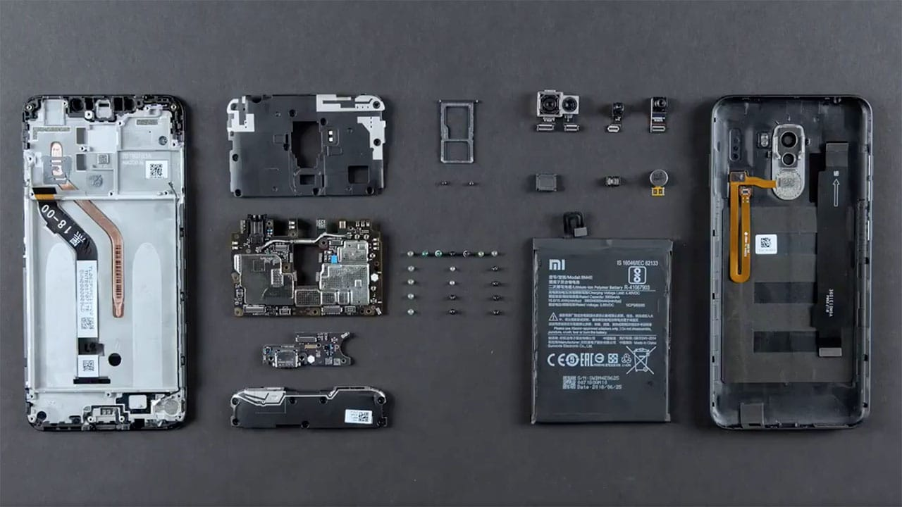Image result for xiaomi pocophone f1 inside