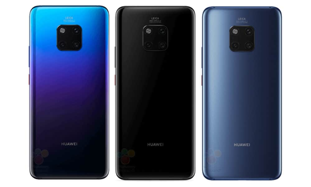 Huawei Mate 20 Pro Appears In Full Body Renders Shows Off Three