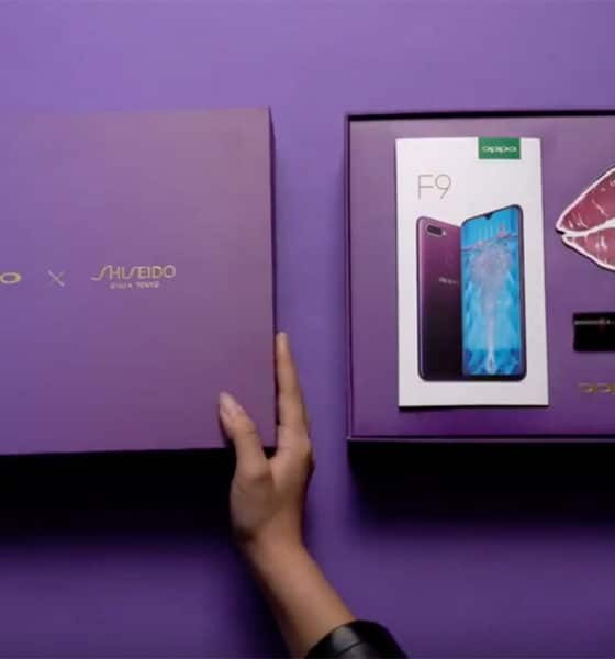 OPPO x Shiseido special edition Starry Purple F9 box set is