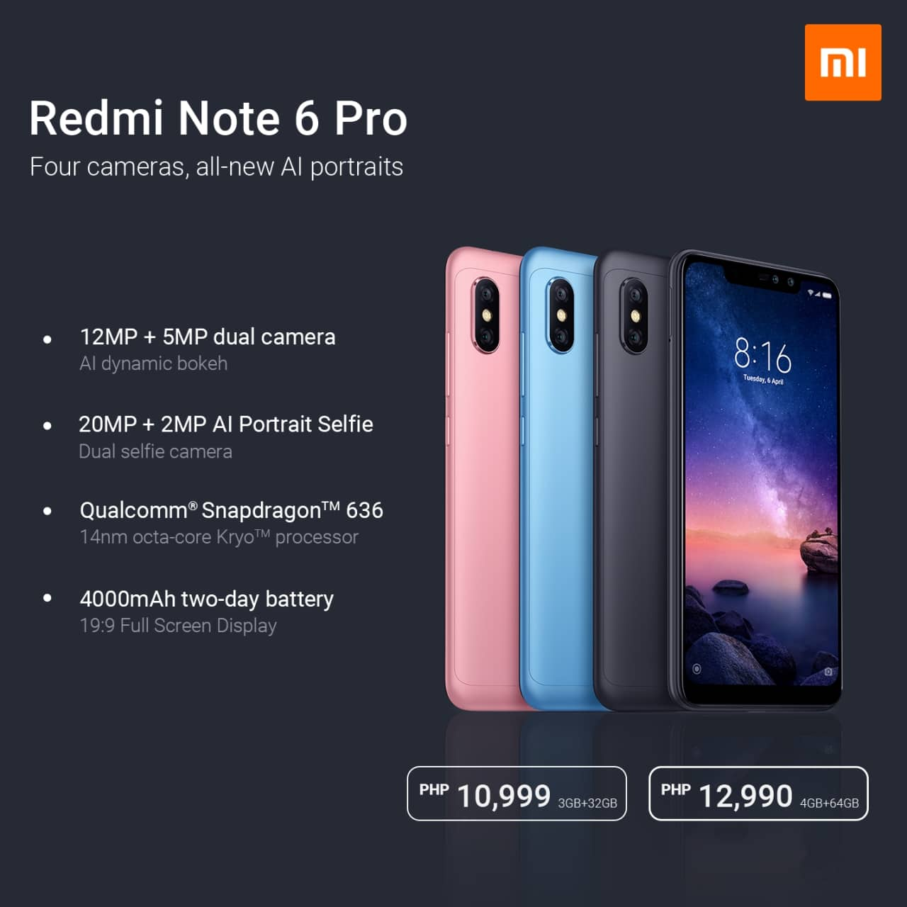 Xiaomi Redmi Note 6 Pro: Price and availability in the