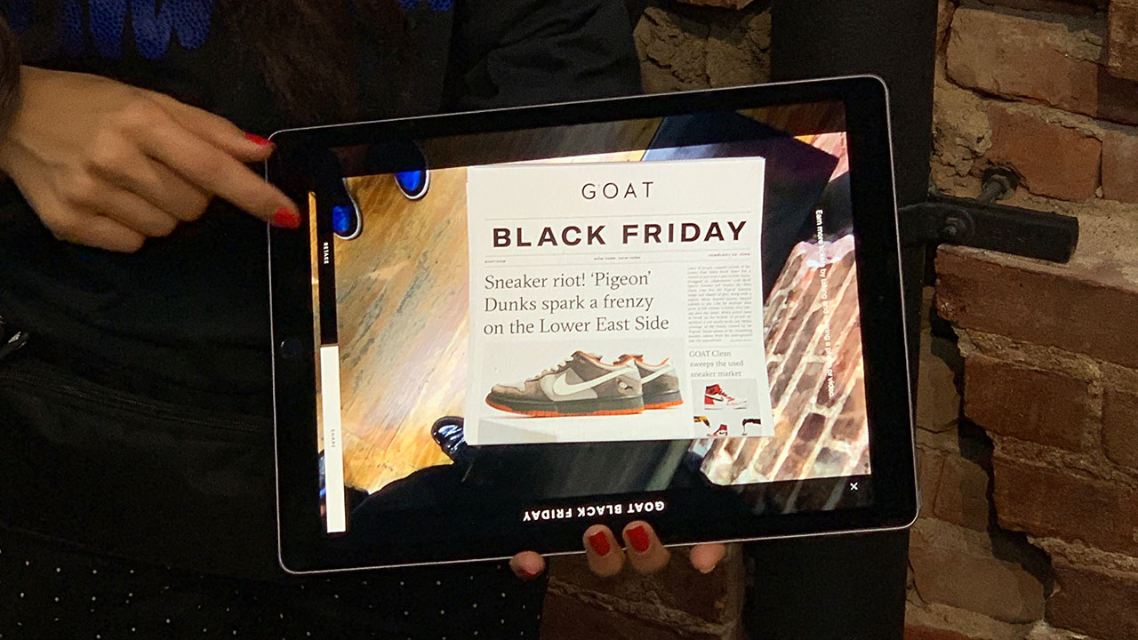 b60c8565686 GOAT launches augmented reality-powered Black Friday giveaway ...