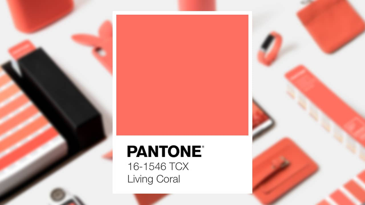 Pantone of the year Living Coral and where you've seen it
