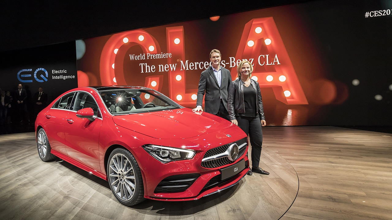 2020 Mercedes CLA-Class officially debuts at CES 2019
