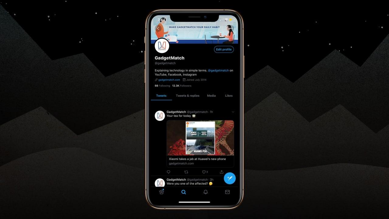 Twitter for iOS gets even darker - GadgetMatch